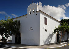 Church of Our Lady of Remedies at Yaiza, Lanzarote Island, Canar Stock Photos