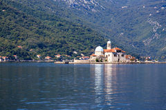 Church of Our Lady on rock island in Perast Royalty Free Stock Photography
