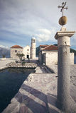 Church of Our Lady of the Rocks, Bay of Kotor, Montenegro Stock Images