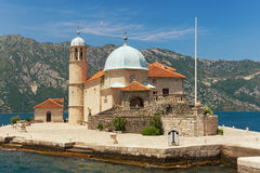 Church of Our Lady of the Rocks. Bay of Kotor, Montenegro Royalty Free Stock Photos