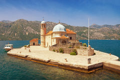 Church of Our Lady of the Rocks. Montenegro Royalty Free Stock Images