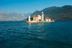 Church of Our Lady of the Rocks, Perast, Montenegro Stock Photography