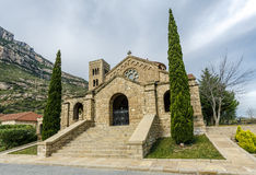 Church Our Lady of rosary  Monistrol de Montserrat Stock Photos