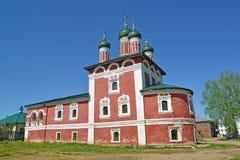 Church of Our Lady of Smolensk in the territory of Bogoyavlensky convent. Uglich, Yaroslavl region.  stock photo