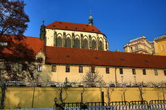 The church of Our Lady of the Snows (Czech: Panny Marie Sněžné) is located near Jungmann Square in Prague, Czech Republic. A picture of the church of Our Lady Royalty Free Stock Photography