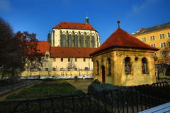 The church of Our Lady of the Snows (Czech: Panny Marie Sněžné) is located near Jungmann Square in Prague, Czech Republic Royalty Free Stock Images