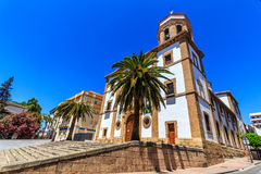 Church Of Our Lady Of Socorro in Ronda (Spain) Stock Photo