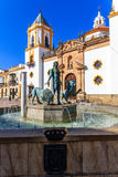 Church Of Our Lady Of Socorro in Ronda (Spain) Stock Photos