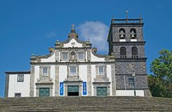 Church of Our Lady of the Star, Ribeira Grande, Sao Miguel island, Azores, Portugal royalty free stock images
