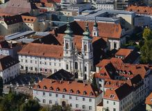 Church of Our Lady of Succor. (Mariahilferkirche) in Graz in Austria Royalty Free Stock Images