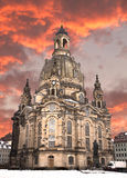 Church of our lady at sunset, Stock Photo