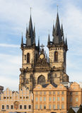 Church of Our Lady before Týn in Prague Royalty Free Stock Photography