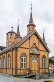 Church of Our Lady in Tromso, Norway stock photography