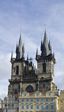 Church of our Lady before Tyn. In one of the most important in Prague Royalty Free Stock Photography