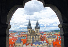 Church of our Lady - Tyn Church in old town of Prague Royalty Free Stock Photos