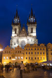 Church of Our Lady before Tyn is a gothic church in Old Town of Royalty Free Stock Photos