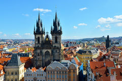 Church of our lady before Tyn. A gothic church in the old town of Prague, Czech Republic Stock Photography