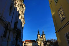 Church of Our Lady before Tyn, Old Buildings, Old Town Square,Prague, Czech Republic Royalty Free Stock Photo