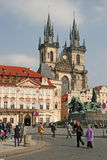 Church of Our Lady before Tyn on the Old Town Square, Prague, Czech Republic Royalty Free Stock Photo