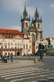 Church of Our Lady before Tyn on the Old Town Square, Prague, Czech Republic Stock Images