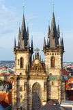 The Church of Our Lady before Tyn (Prague, Czech Republic) Stock Photo