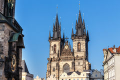 The Church of Our Lady before Tyn 2014 Royalty Free Stock Photos