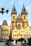 Church of our Lady before Tyn in Prague Stock Photos
