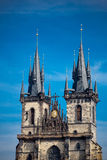 Church of Our Lady before Tyn in Prague Stock Images