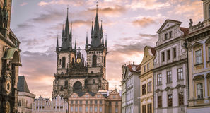 Church of our Lady before Tyn Prague Royalty Free Stock Images