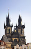 Church of Our Lady before Tyn in Prague. Czech Republic Stock Images