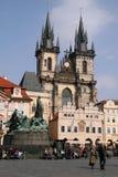Church of Our Lady before Tyn in Prague, Czech Republic Stock Photos
