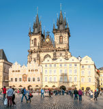 Church of Our Lady before Tyn in Prague stock photo