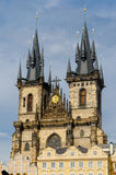 Church of Our Lady of Tyn, Prague Royalty Free Stock Photography