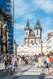Church of Our Lady before Tyn in Prague Royalty Free Stock Photo