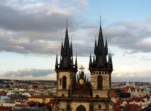 Church of Our Lady of Tyn, Prague stock photo