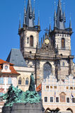 Church of Our Lady before Tyn in Praha Stock Image