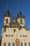 Church of Our Lady before Tyn in sunset ligh. Prague. Royalty Free Stock Photos