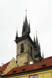 Church of our lady before Tyn - towers Royalty Free Stock Image