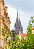 Church of Our Lady before Tyn towers in Prague Stock Photo