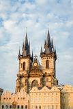 Church of Our Lady before Tyn towers in Prague Royalty Free Stock Photography