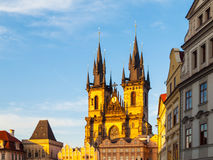Church of Our Lady before Tyn. View from Old Town Square, Prague, Czech Republic Stock Photo