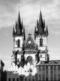 Church of Our Lady before Tyn. View from Old Town Square, Prague, Czech Republic Stock Photography