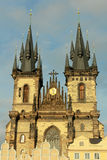 Church of Our Lady before Tyn. View of the Church of Our Lady before Tyn during sunset, Old Town of Prague, Czech Republic Stock Photos