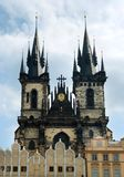 Church of Our Lady Victorious. Before Tyn and Prague Castle landmark architecture Royalty Free Stock Image