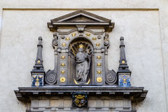Church of Our Lady Victorious in Mala Strana. The facade of the Church of Our Lady Victorious (Kostel Panny Marie Vitezne) in Mala Strana Royalty Free Stock Photos