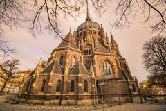 Church of Our Lady Victorious Kirche Maria vom Siege in Vienna Austria. The church of Our Lady victorious Maria vom Siege was a Roman Catholic parish church on Stock Image