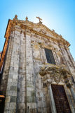 The Church of Our Lady Victorious in Porto, Portugal. Porto is one of the most popular tourist destinations in Europe Royalty Free Stock Photo