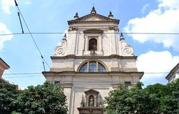 Church of 'Our Lady'. Church of Our Lady Victorious in Prague Royalty Free Stock Images