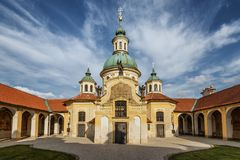 Church of Our Lady Victorious at the White Mountain in Prague. Prague. Czech Royalty Free Stock Image
