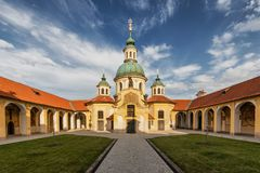 Church of Our Lady Victorious at the White Mountain in Prague. Prague. Czech Stock Photos